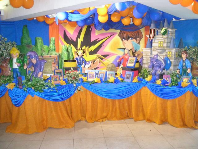Resultado de imagem para decoração festa aniversario yu gi oh